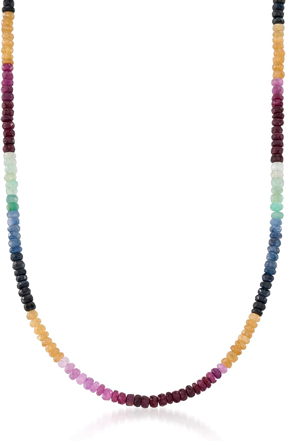 Ross-Simons Clearance SALE Limited time 100.00 ct. t.w. Necklace Bead Sapphire Multicolored Max 77% OFF