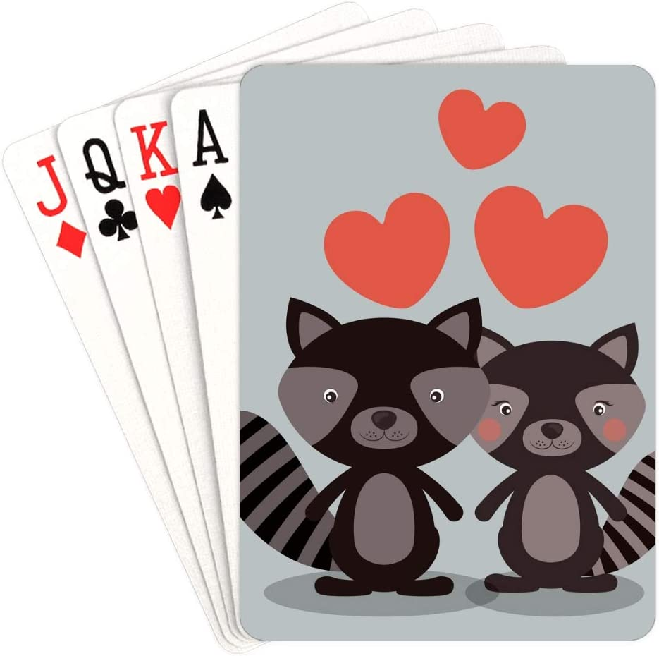 WUTMVING Playing Cards for Teens Love Valentine's Deluxe in Day Animals OFFicial mail order
