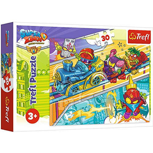 Rivals of Kaboom Puzzle Superzings 30 Piezas Super Zings para niños 21x20 cm, Puzzle Superthings