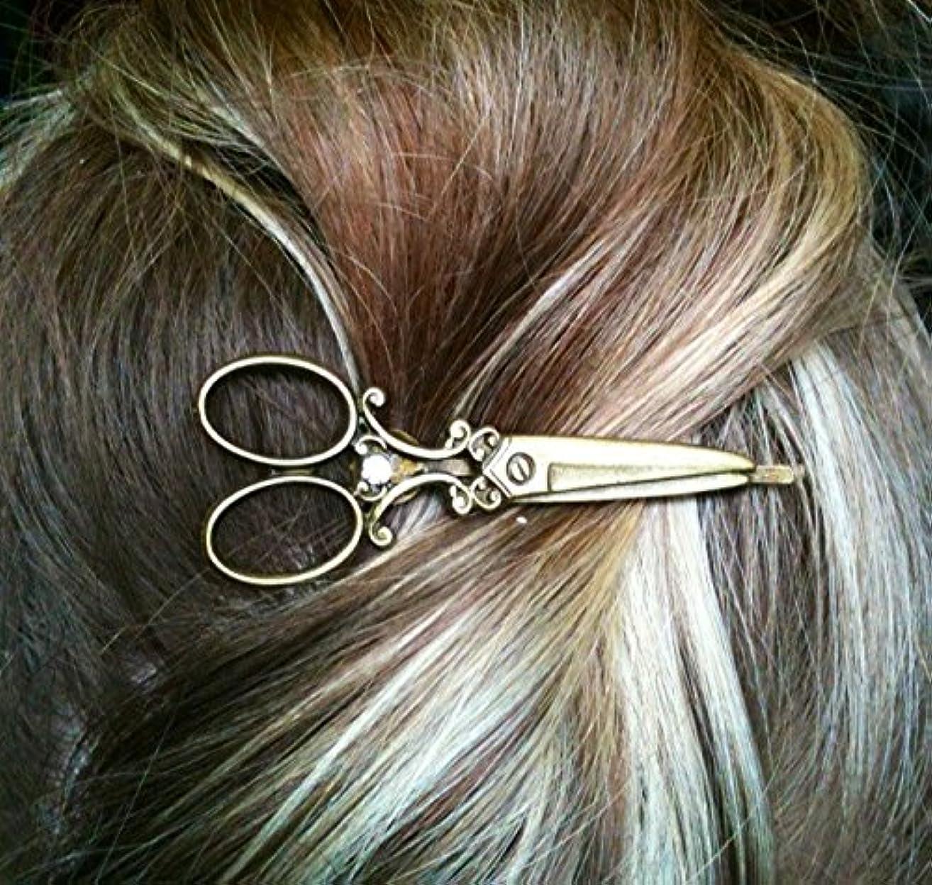 bronze scissor bobby pin hair barrette