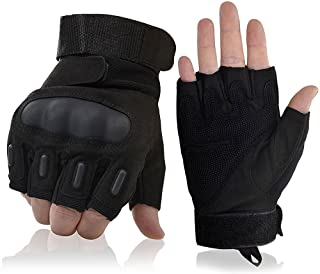 Fuyuanda Shooting Gloves Tactical Gloves Half Finger Military Gloves Hard Knuckle Outdoor Glove for Airsoft Paintball Pistol Hunting Riding Cycling