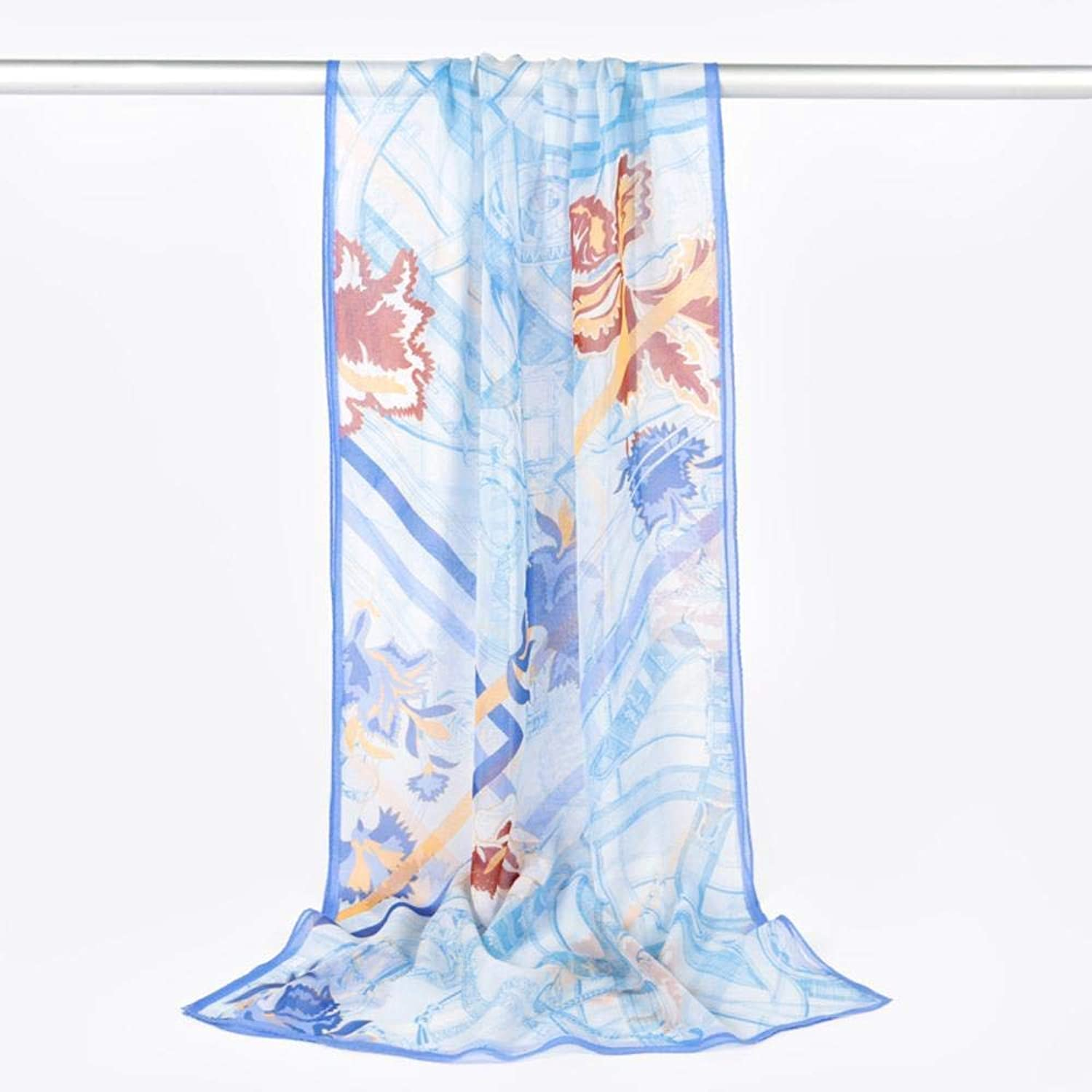 Paioup Ladies Silk Scarf Beach sunscreen 100% silk scarf Perfectly expresses unique temperament