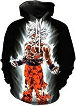 CHENMA Men Cosplay Dragon Ball Z 3D Print Pullover Hoodie Sweatshirt with Pocket