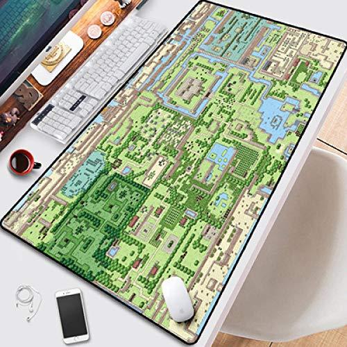 Mauspad,Mauspad, Zelda Mousepad Großer Computer Teppich 90X40Cm Spielen Mauspad Großes Geschenk Halloween Maus Tastatur Spiele Pc Gamer Office @ A