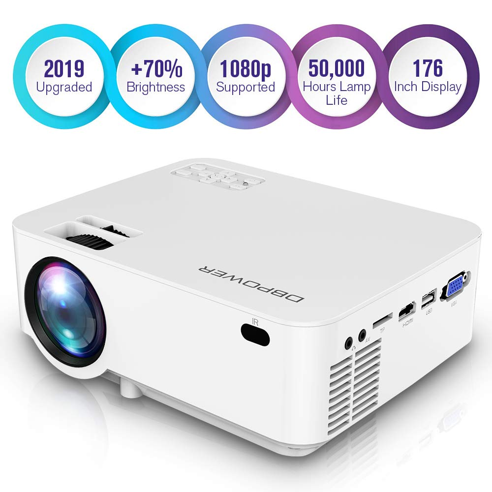 DBPOWER Projector Custimized Compatible Smartphone