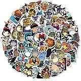 XIANYING Pegatinas de Anime Castillo móvil El Viaje de Chihiro Pegatinas de Dibujos Animados para Bicicleta, portátil, Libro, Equipaje, Juguetes para niños, 50 Uds.