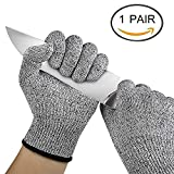 Woogor Knife Cut Resistant Nylon, Hand Safety Gloves for Kitchen, Industry, Sharp Items
