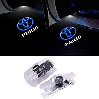 QJZoncuji カーテシライ2個セットドア高輝度のLEDトヨタチップ プリウス50系 30系 ロゴ カーテシランプ カーテシライト for Prius S