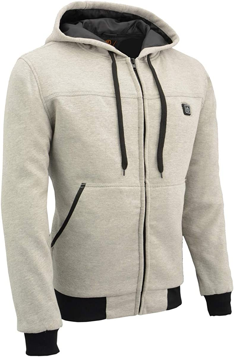 famous Milwaukee Leather Men's Heated Front Hoodie Zippered Award-winning store