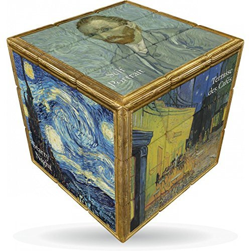 V-Cube- Van Gogh Rotational Speed Cube Puzzle Rompecabezas, Multicolor (VCB-3-VANGOGH)