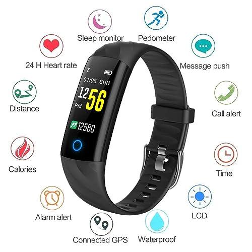 Montre Connectée WISHDOIT étanche écran Couleur Bracelet Intelligent Moniteur de Sommeil Moniteur de fréquence Cardiaque Compteur de Calories Pédomètre Hommes et Femmes Bracelet Sport pour Android iOS