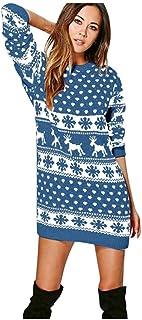 RDFGYU Las Mujeres de Moda suéter, Las Mujeres Tapas Ocasionales Jersey Suelto suéter de Las señoras suéteres Weaving Jumper