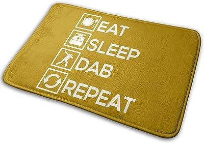 Eat Sleep Dab Repeat Carpet Non-Slip Welcome Front Doormat Entryway Carpet Washable Outdoor Indoor Mat Room Rug 15.7 X 23.6 inch