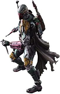Siyushop Variant Play Arts Kai Boba Fett PVC Painted Action Figure - Alien War Action Character Model - Equipped with Action Character Weapons and Action Character Effects Accessories - High 28CM