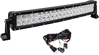 22 inch curved Led Light Bar, Bestlights 22 inch 120W Curved Light Bar Off-road Light Bar Flood Spot Combo Beam IP 68 Waterproof with Wiring Harness