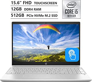 "HP Pavilion Laptop, 15.6"" Full HD IPS Micro-Edge Touchscreen, 10th Gen Intel Core i5-1035G1 Processor up to 3.60GHz, 12GB ..."