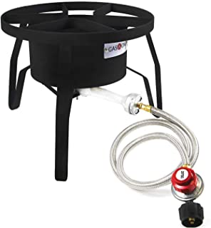 GasOne B-5300 One High-Pressure Outdoor Propane Burner Gas Cooker Welded Frame No..