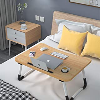 Laptop Desk Bed Table Tray, Lap Desk Bed Table for Breakfast Serving Tray, Notebook Table with Tablet Slots and Cup Holder...