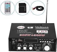 Amplificador Estéreo para Automóvil, 12V 600W Bluetooth HiFi Audio estéreo Amplificador de Potencia Control Remoto 220V USB, 4-8Ω Impedancia del Altavoz