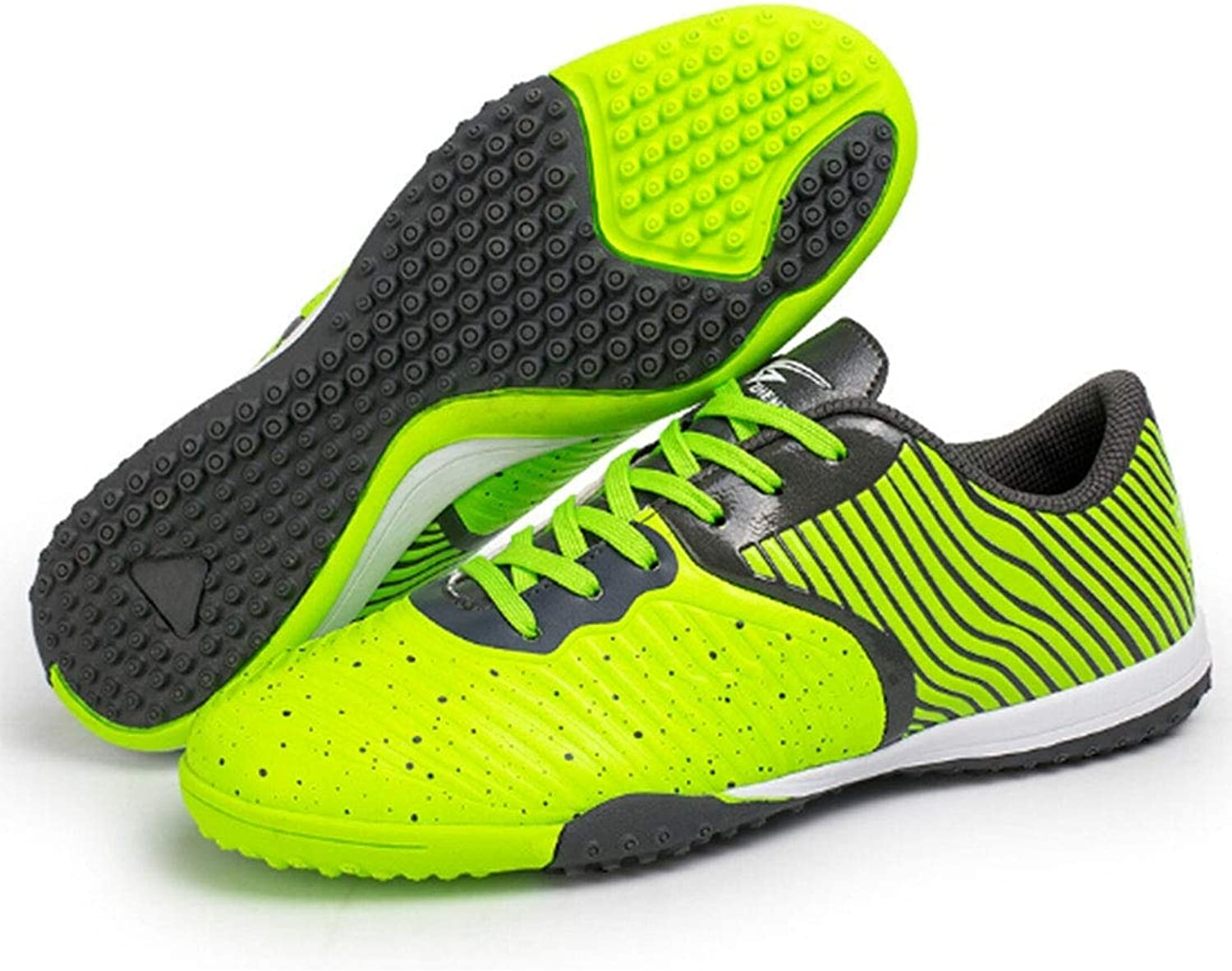 Linmatealliance Outdoor&Sports shoes Zhenzu Outdoor Sporting Professional Training 3D Stereoscopic Print Antislip Football shoes, EU Size  40(Green)