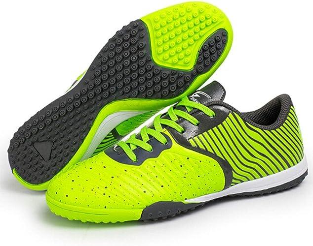 CELINEZL Le Football Brille Zhenzu Formation Professionnelle de Sport en Plein air Chaussures de Football antidérapantes imprimées en 3D stéréoscopiques, Taille EU  43 (Vert)