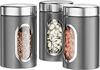 Dreamhigh Boîtes de Conservation Alimentaire, Boite de Rangement Cuisine Lot de 3, Boîte à café, Pour grains de café, poud...