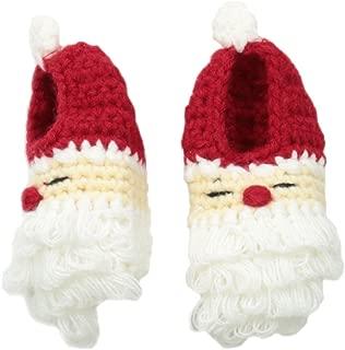 Mud Pie Unisex-Baby Crochet Santa Booties