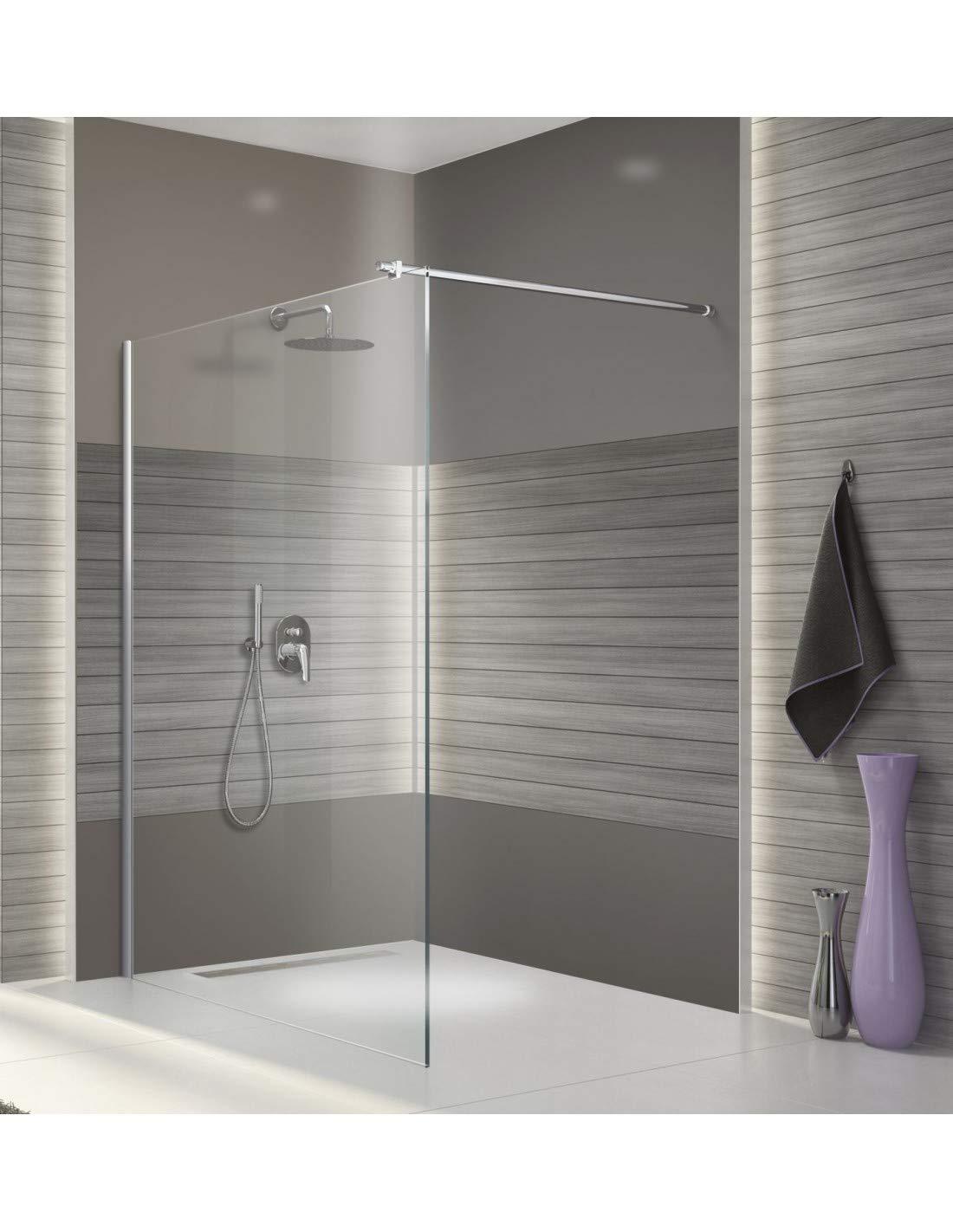 Leda – Mampara Fija ducha abierta con barra de estabilización Larg. 100 cm – Open 2: Amazon.es: Bricolaje y herramientas