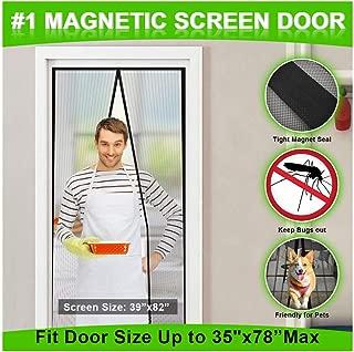 MONOLED Magnetic Screen Door, Screen Door, Durable Hands- Free Door Mesh Curtain with Full Frame Seal, Fits Door Size Up to 35