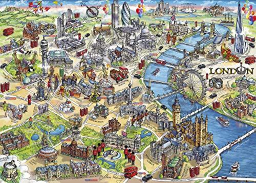 Gibsons London-Puzzle mit Sehenswürdigkeiten in London, in Geschenkbox (500Teile)