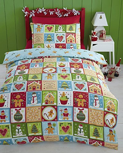 Kids Club Jolly Gingerbread Reversible Duvet Cover Set, Multi, Single