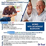 Dr Trust A-One Max Connect Automatic Talking Blood Pressure Testing Monitor (Gray)