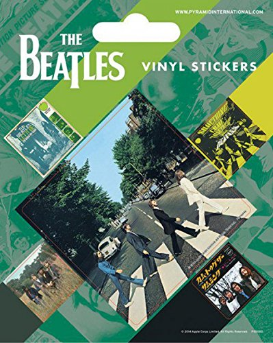 1art1 Los Beatles - Abbey Road, 5 Pegatinas Vinilo Vinilo Decorativo Pegatina...