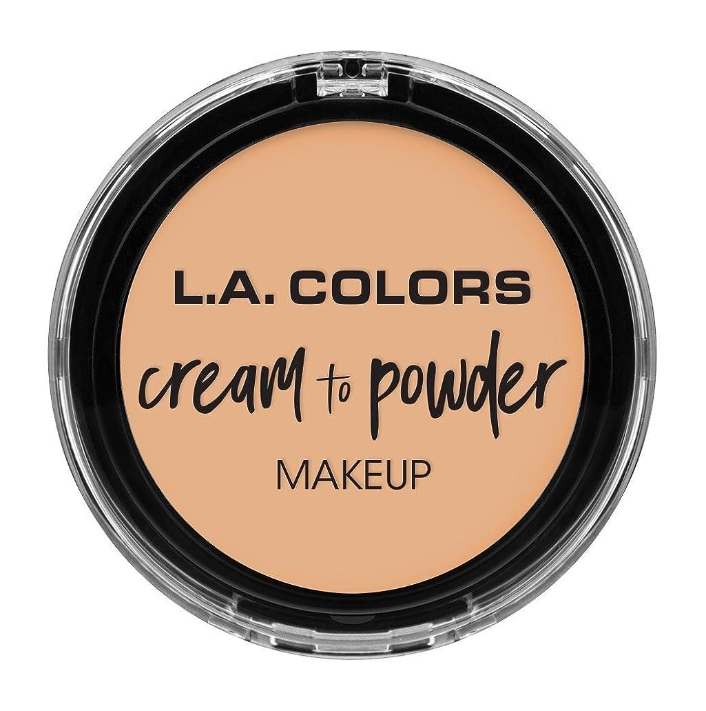 電話に出る親密な電話に出るL.A. COLORS Cream To Powder Foundation - Buff (並行輸入品)