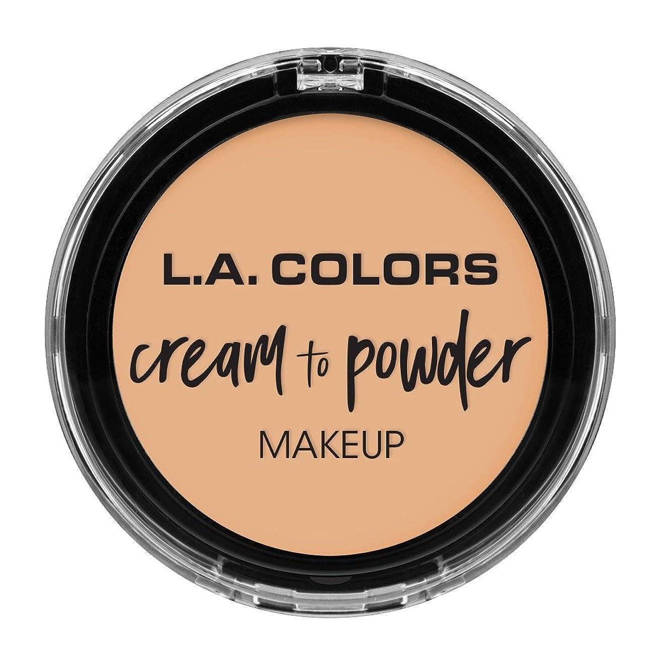 全国優しい未知のL.A. COLORS Cream To Powder Foundation - Buff (並行輸入品)
