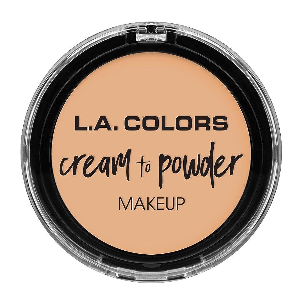 マーガレットミッチェルタイル引くL.A. COLORS Cream To Powder Foundation - Buff (並行輸入品)