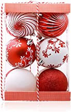 12 Piece Set Christmas Ball Christmas Tree Pendant Christmas Tree Decoration Red White