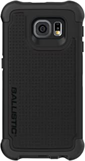 Ballistic Galaxy S6 Case [Tough Jacket Maxx] Heavy Duty Six-sided Drop Protection [Black] 8ft Drop Test Certified Case, Rugged Case Built In Screen Protector With Holster for Samsung Galaxy S6
