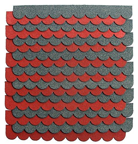 crash-marek 2m²-5-Sets Mini Dachschindeln,anthrazit,Dachpappe,Hundehütte,Vogelhaus,Hasenstall,Gehege,Abdeckung,Biberschwanz,Sandkasten