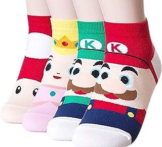 calcetines para mujer, 3 – 6 unidades, divertidos y geniales gatos, perros, diseño de animales dulces, buena idea para regalo, talla única