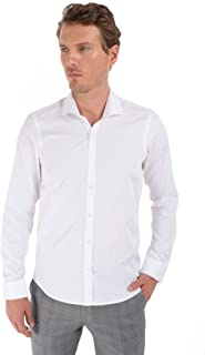 Ağrive Slim Fit Uzun Kollu Gömlek Beyaz
