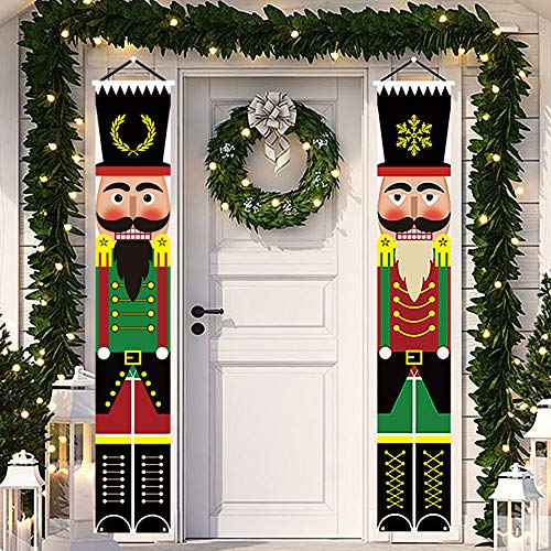 Yommida Nutcracker Banner for Christmas - Porch Sign Christmas...