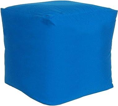 RULU 02274 Ottoman Outdoor/Indoor Sunbrella Pouf 18 inch x 18 inch x 18 inch, Pacific Blue