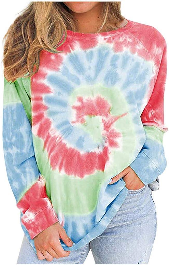 AODONG Sweatshirts for Womens Long Sleeves Sweat Shirts Dandelion Printed Pullover Tops Casual Blouse Sweatshirt
