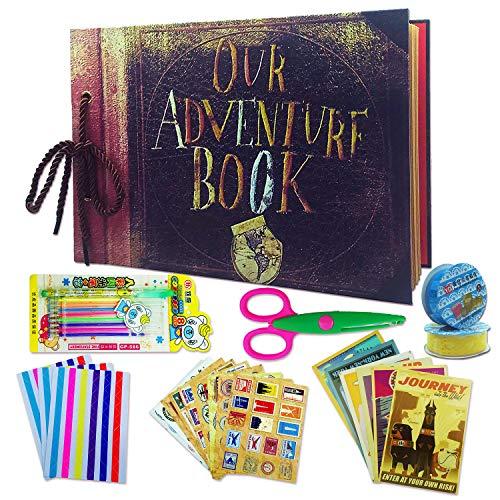 Bylark Libro de aventuras Pixar hecho a mano nuestro libro de aventuras Pixar Up hecho a mano DIY familia álbum de fotos álbum retro álbum de aniversario álbum de viaje