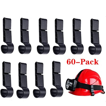 10pcs Headlamp Helmet Clips Hard Safe Hat Safety Cap Light Hooks Head Torches