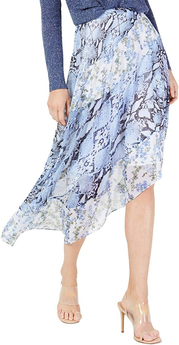 INC Womens Purple Printed Knee Length Skirt Size 18