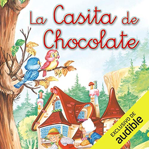 Diseño de la portada del título La casita de chocolate