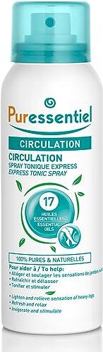 Puressentiel - Circulation - Spray Tonique Express aux 17 Huiles Essentielles - 100% pures et naturelles - Aide à sou...