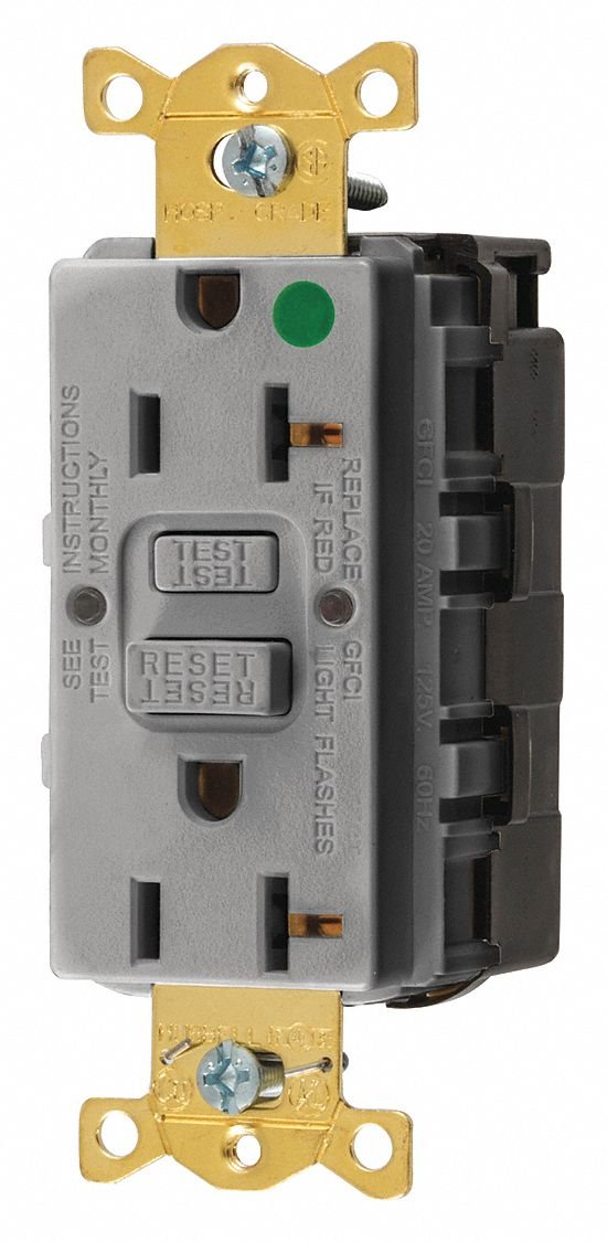 Straight Blade Devices, Receptacle, GFCI, Snap Connect, Commerci